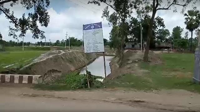 পার্বতীপুরে নদী পুনঃখননের কাজে এক কিলোমিটার নদী খনন না করার অভিযোগ